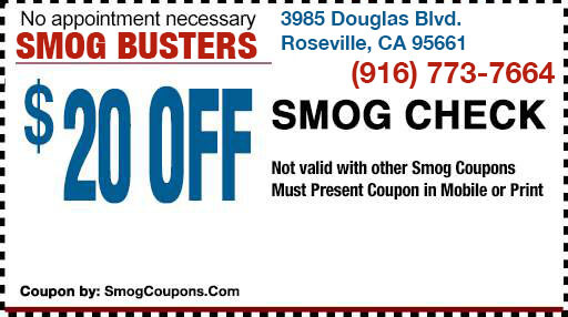 20 Off Smog Check Coupon Roseville Smog Busters